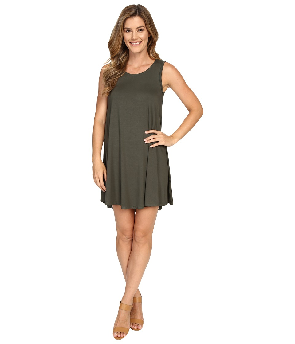 Karen Kane - Olive Green Maggie Trapeze Dress (Olive) Women's Dress