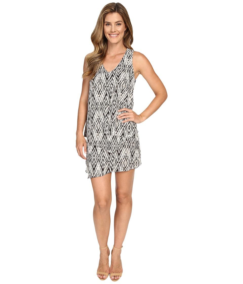 Karen Kane - Diamond Print Multi-Layer Dress (Print) Women's Dress