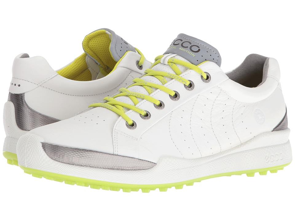 ECCO Golf BIOM Hybrid Hydromax (White/Lime Punch) Men