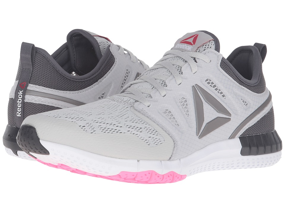 Reebok - ZPrint 3D (Skull Grey/Ash Grey/White/Poison Pink/Pewter) Women's Running Shoes