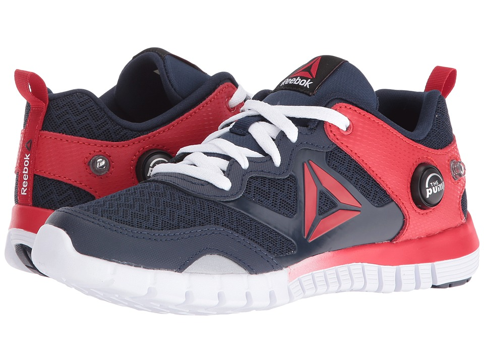 Reebok Kids - ZPump Instinct (Big Kid) (Collegiate Navy/Scarlet/White/Silver Metallic) Boys Shoes
