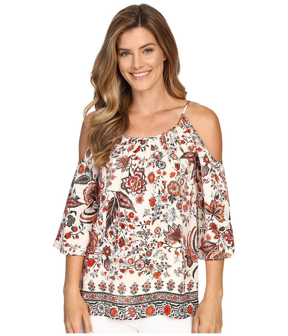 Karen Kane Cold Shoulder Top (Print) Women's Blouse