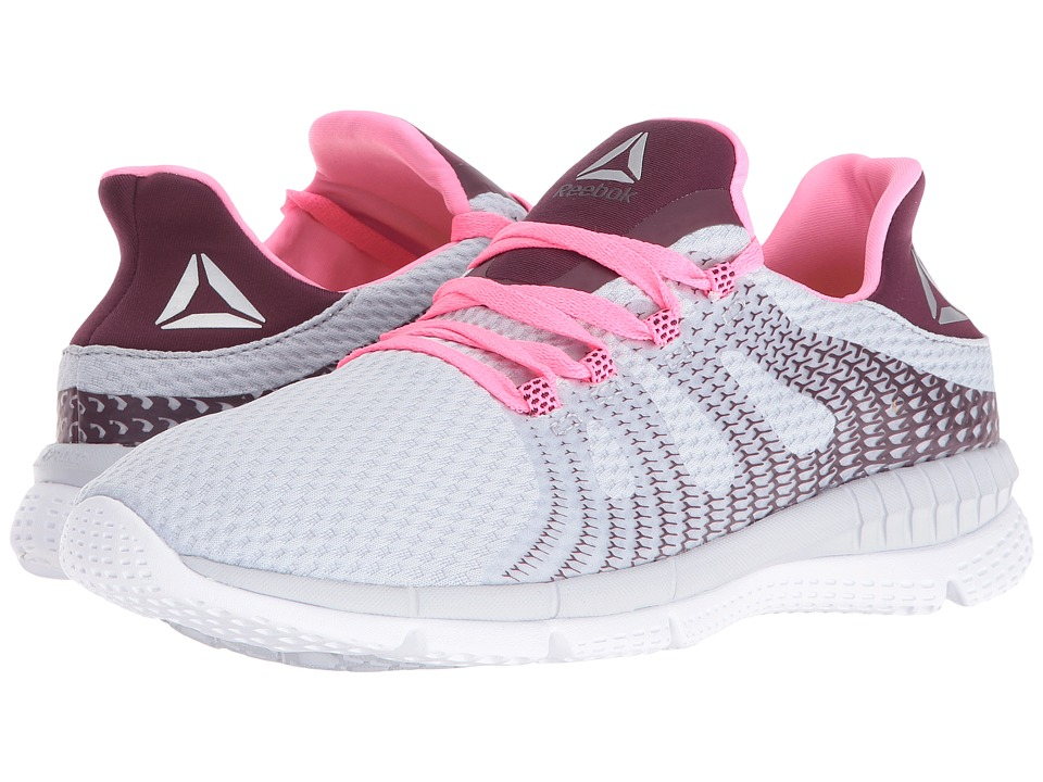 Reebok - ZPrint Her MTM (Cloud Grey/Mystic Maroon/Poison Pink/White) Women's Running Shoes