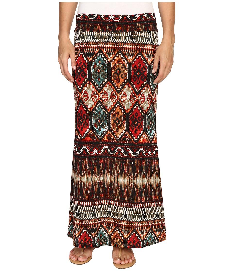 Karen Kane - Border Print Maxi Skirt (Print) Women's Skirt