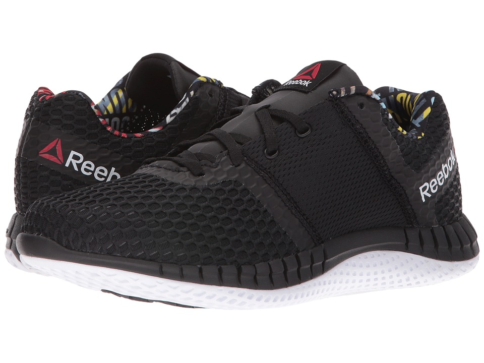 Reebok - ZPrint Run Thru GP (Black/White) Women's Running Shoes