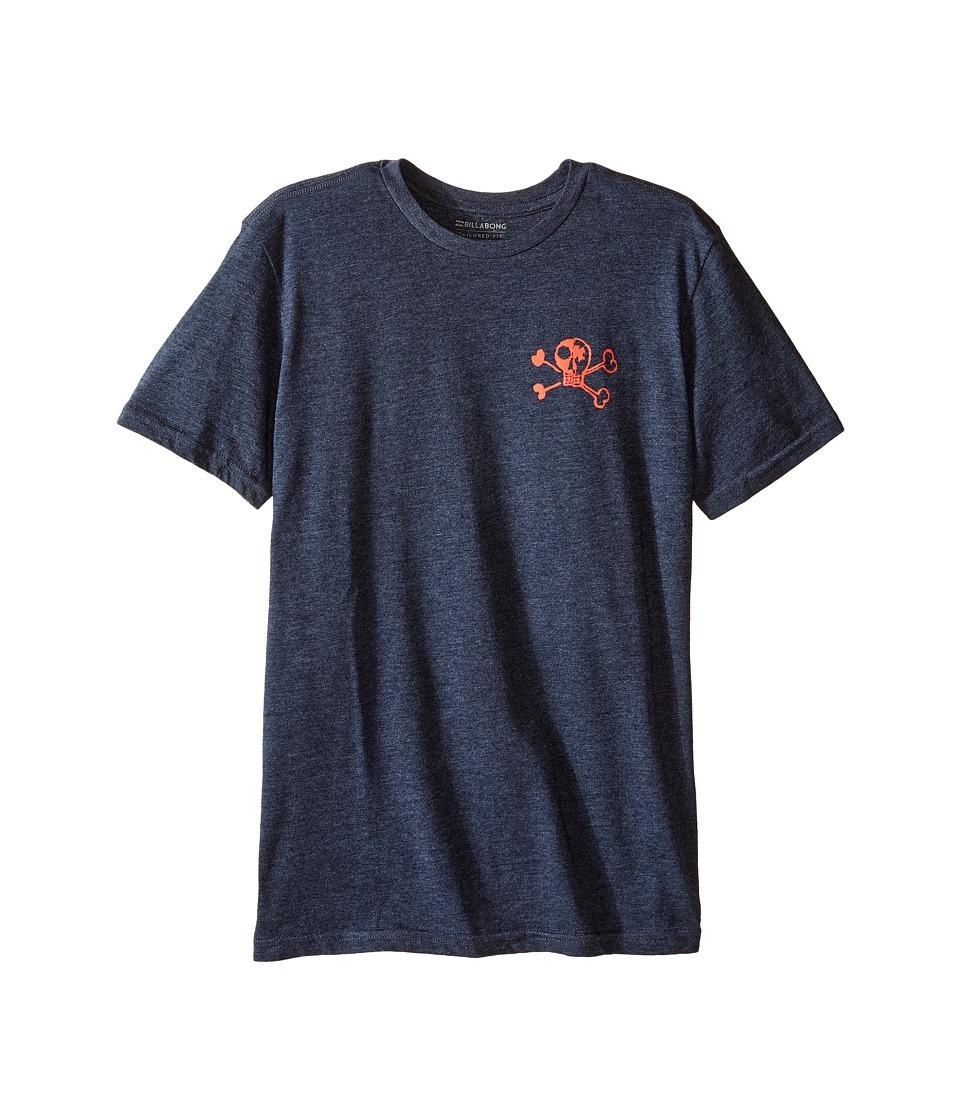 Billabong Kids OG Billy T-Shirt (Big Kids) (Indigo Heather) Boy