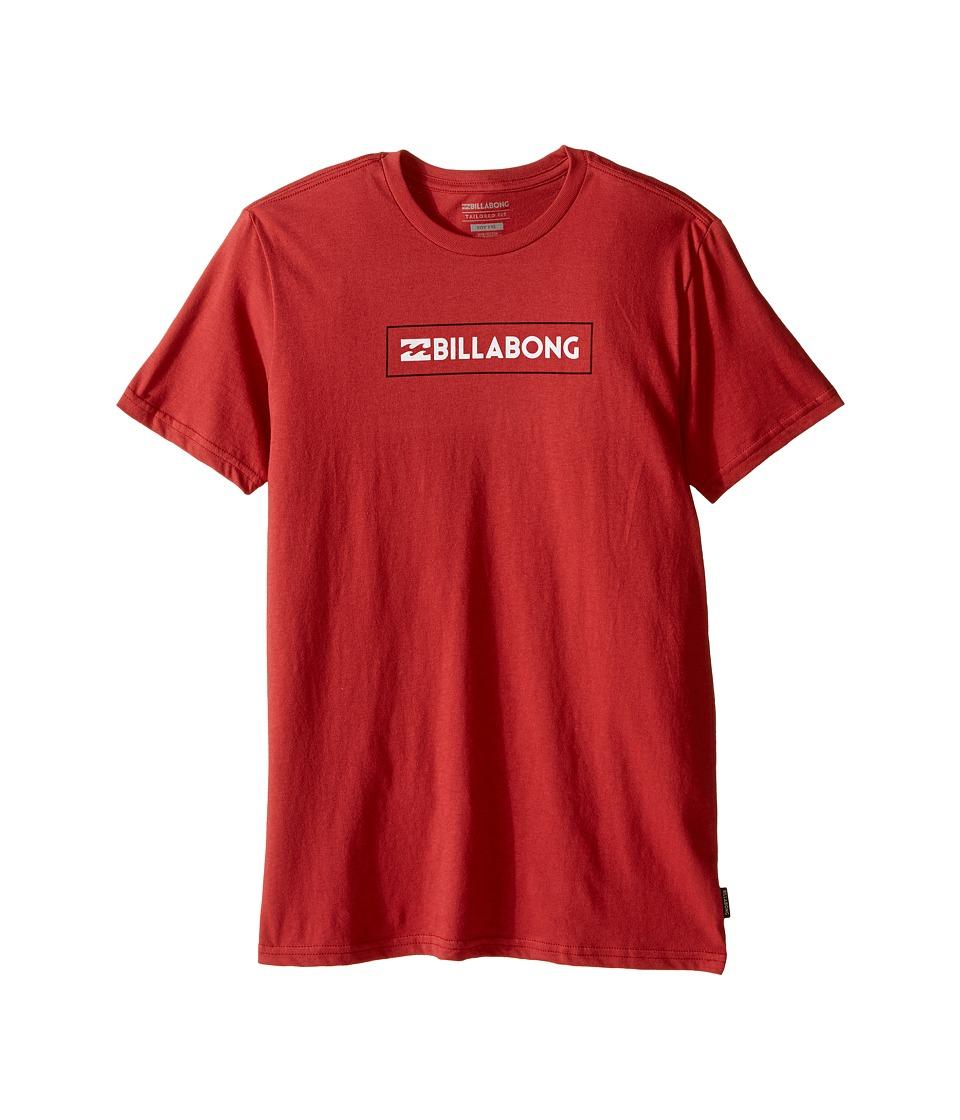 Billabong Kids - Unity Block T-Shirt (Big Kids) (Red) Boy