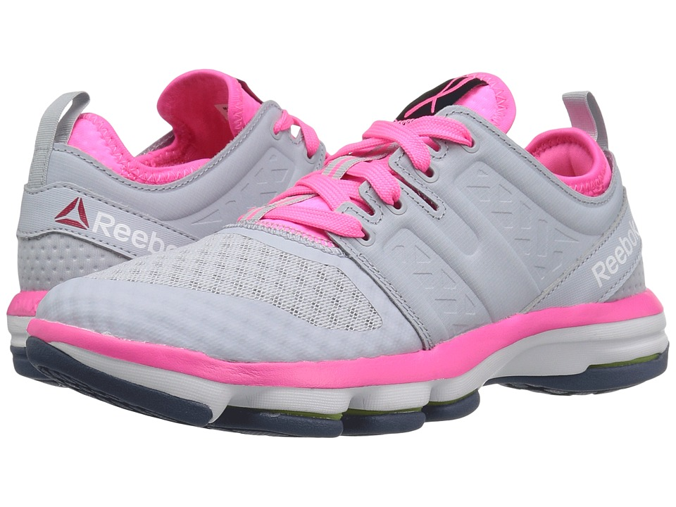 Reebok - Cloudride DMX (Cloud Grey/Poison Pink/White/Royal Slate) Women's Walking Shoes
