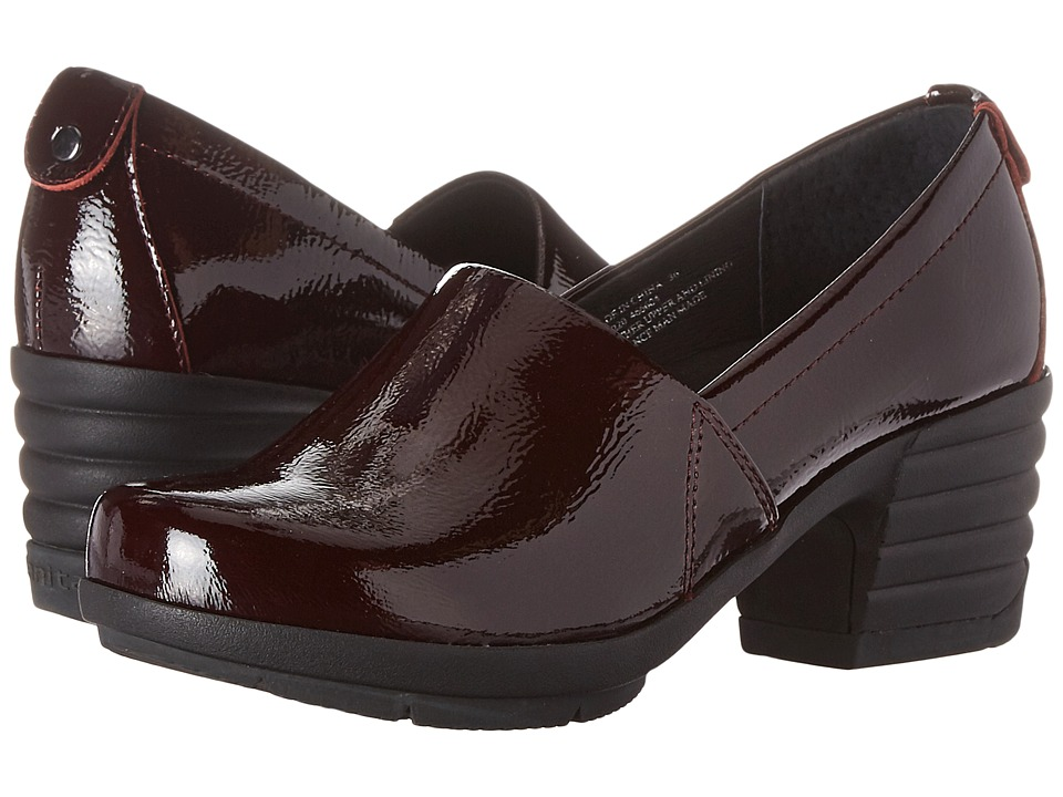Sanita - Icon President (Burgundy Crinkle Patent) Women's Shoes