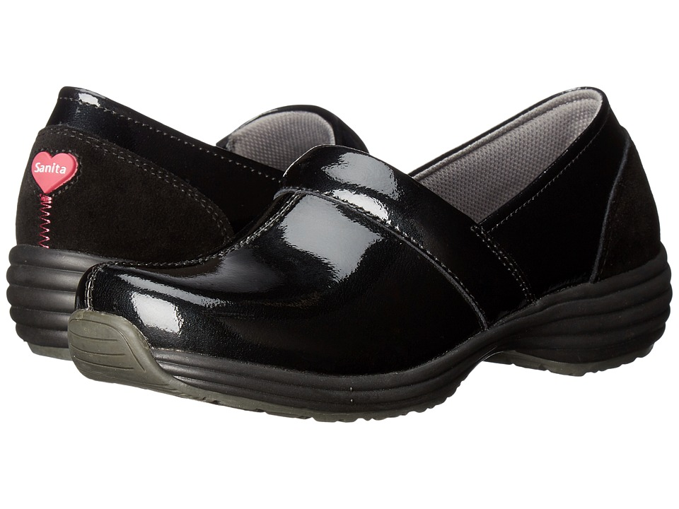 Sanita - O2 Ease-Life (Black Patent) Women's Clog Shoes
