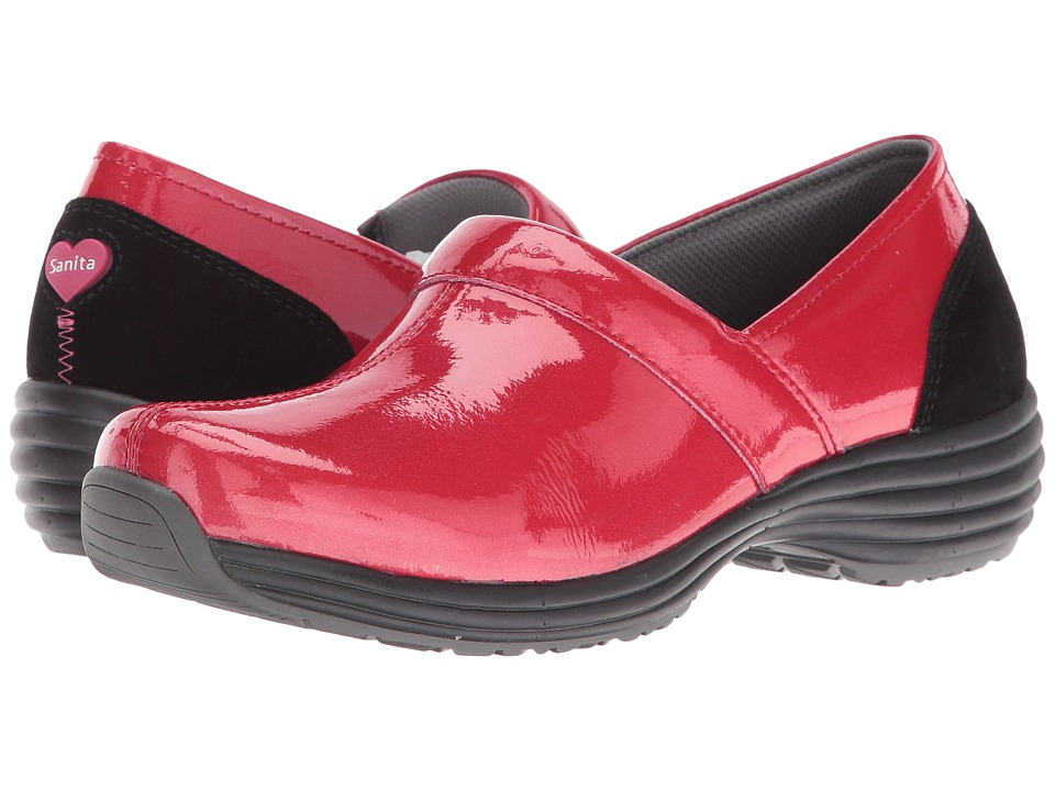Sanita - O2 Ease-Life (Red Patent) Women's Clog Shoes