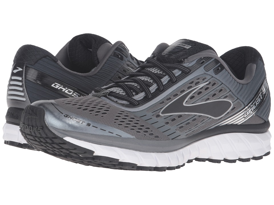 Brooks - Ghost 9 (Pavement/Anthracite/Black) Men's Running Shoes
