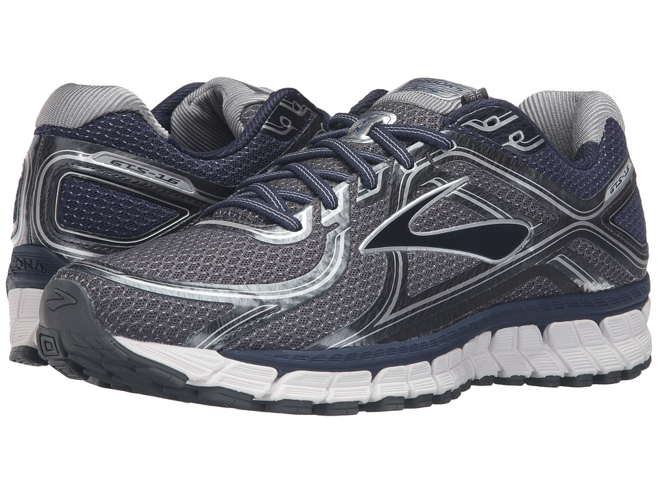 Brooks - Adrenaline GTS 16 (Anthracite/Peacoat/Silver) Men's Running Shoes
