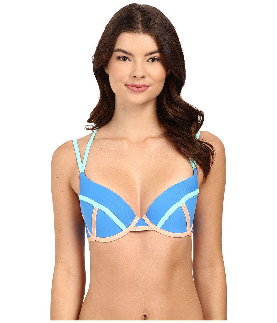 Maaji - Cerulean Bauhaus Top (Blue) Women's Swimwear