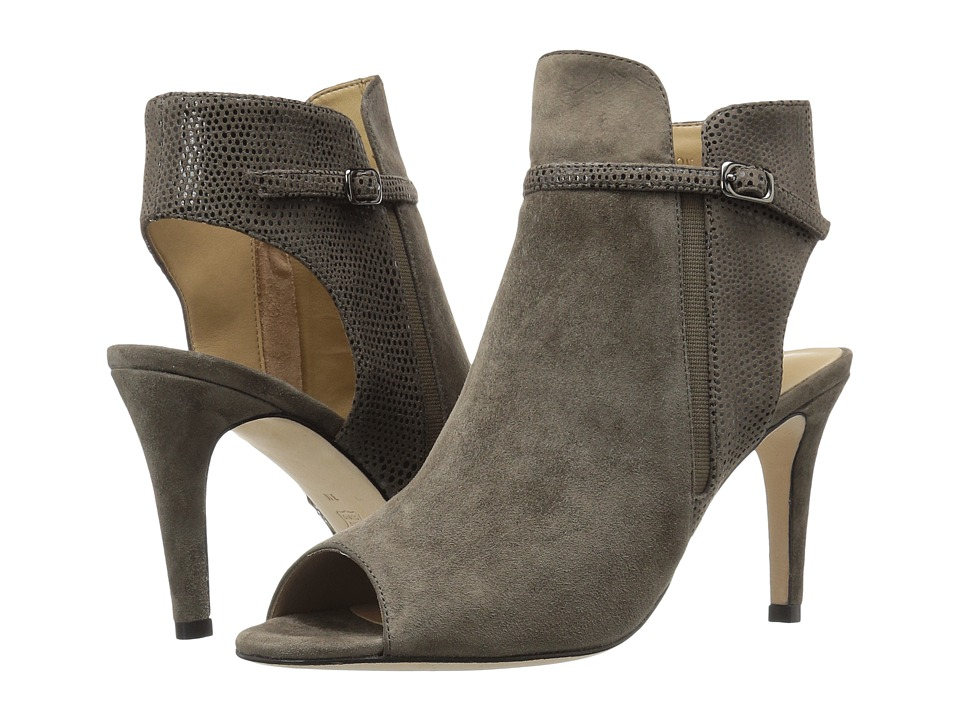 Vaneli - Birgit (Taupe Suede/Match Elastic Print/Match Elastic) High Heels