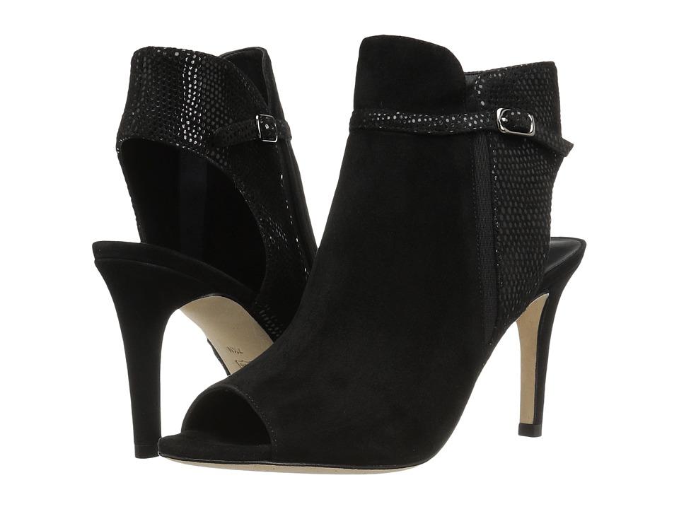 Vaneli Birgit (Black Suede/Match Elastic Print/Black Elastic) High Heels