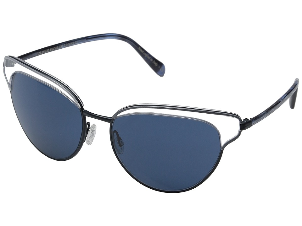 Oliver Peoples - Josa (Clear/Navy/Blue) Fashion Sunglasses