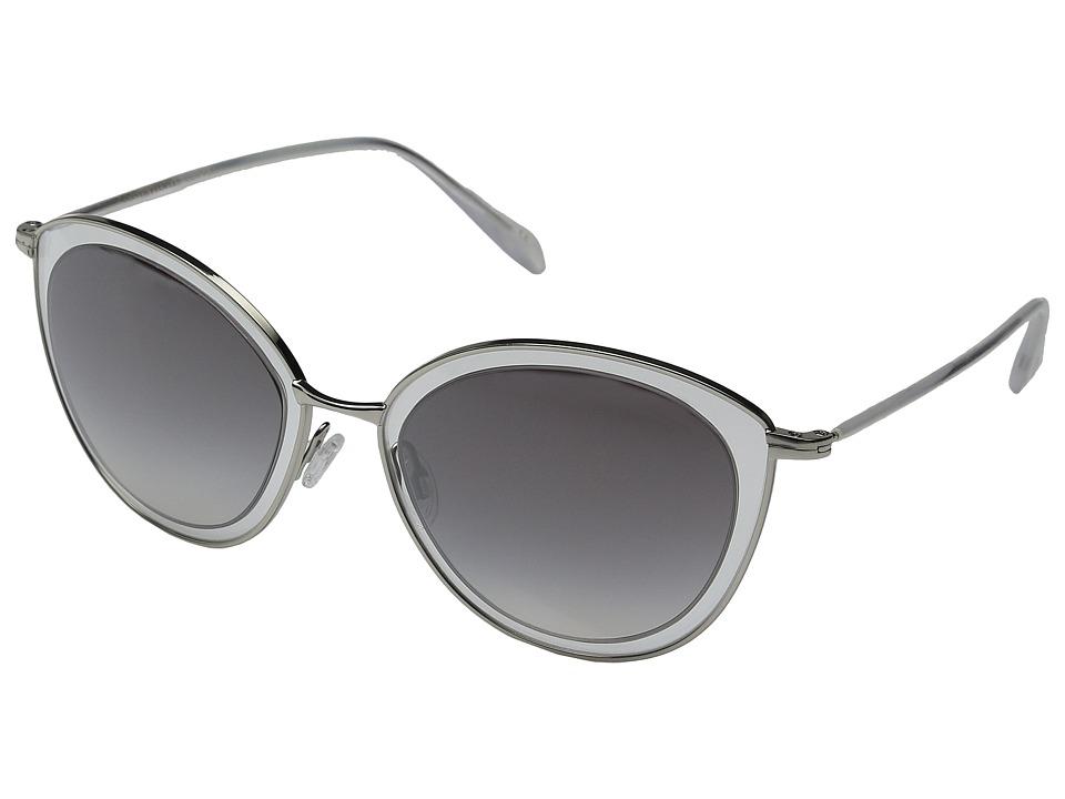 Oliver Peoples - Gwynne (Silver/Clear/Silver Flash Gradient Mirror) Fashion Sunglasses