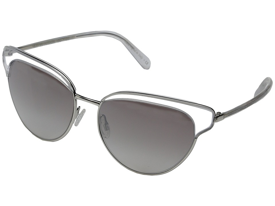 Oliver Peoples - Josa (Clear/Silver/Silver Flash Gradient Mirror) Fashion Sunglasses