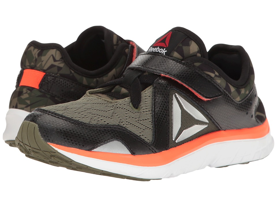Reebok Kids - Fusion Runner GR (Little Kid) (Black/Canopy Green/Atomic Red/White) Boys Shoes