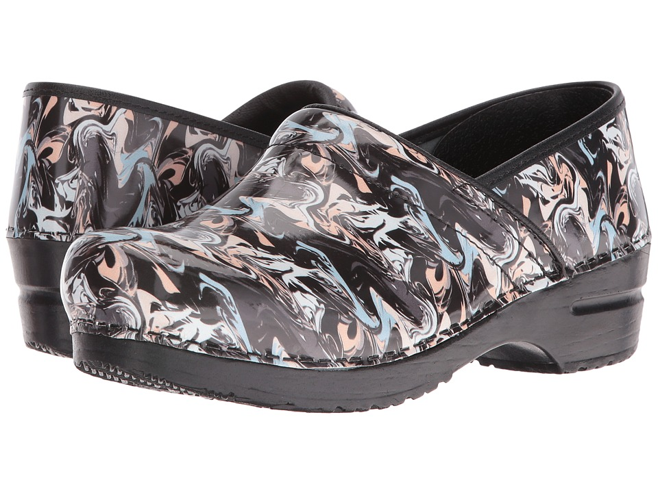 Sanita - Signature Marble (Black) Women's Clog Shoes
