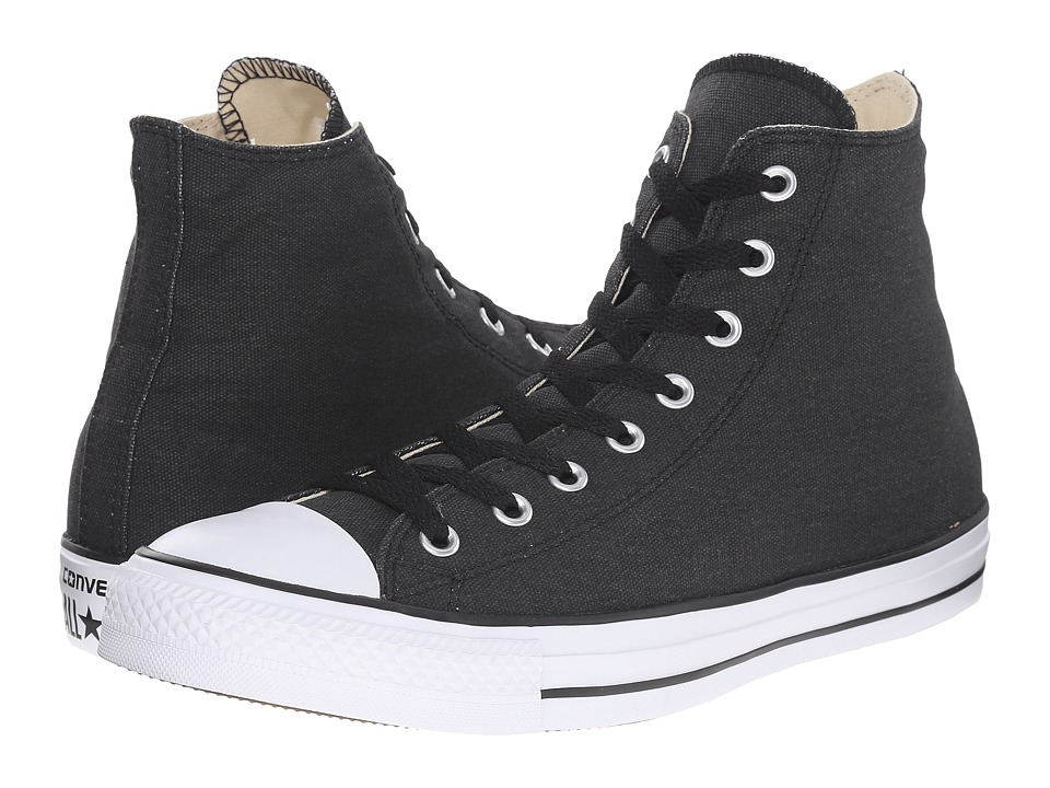 Converse Chuck Taylor All Star Hi (Black/Black/White) Lace up casual Shoes