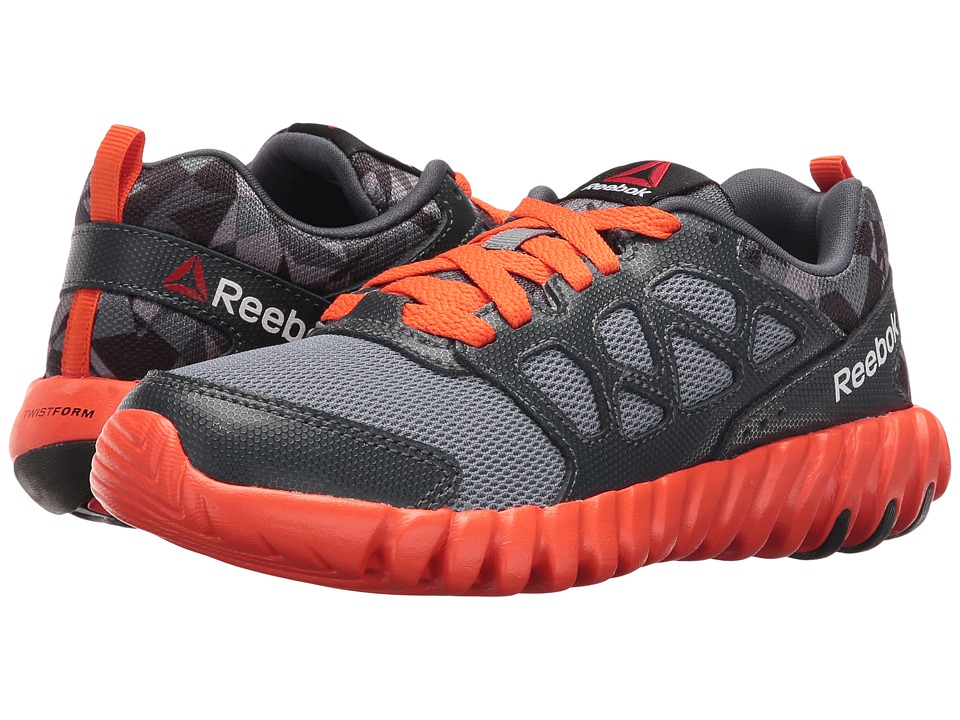 Reebok Kids - Twistform Blaze 2.0 PP (Little Kid) (Asteroid Dust/Nocturnal Grey/Flux Orange/Black) Boys Shoes