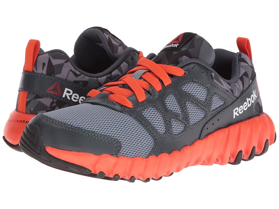 Reebok Kids - Twistform Blaze 2.0 PP (Big Kid) (Asteroid Dust/Nocturnal Grey/Flux Orange/Black) Boys Shoes