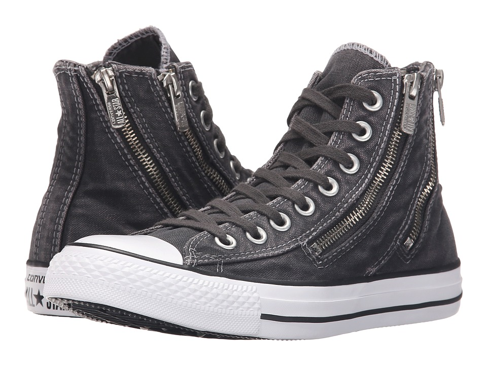Converse - Chuck Taylor(r) All Star Dual Zip Hi (Storm Wind/Black) Women's Lace up casual Shoes