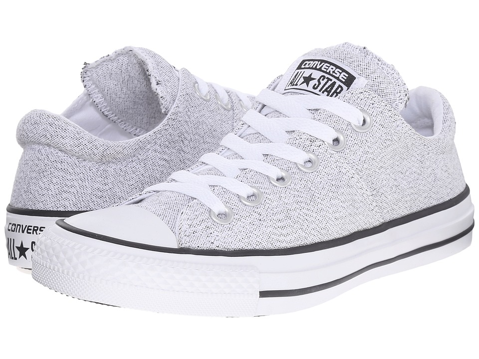 Converse - Chuck Taylor All Star Madison Ox (White/Black/White) Women's Lace up casual Shoes
