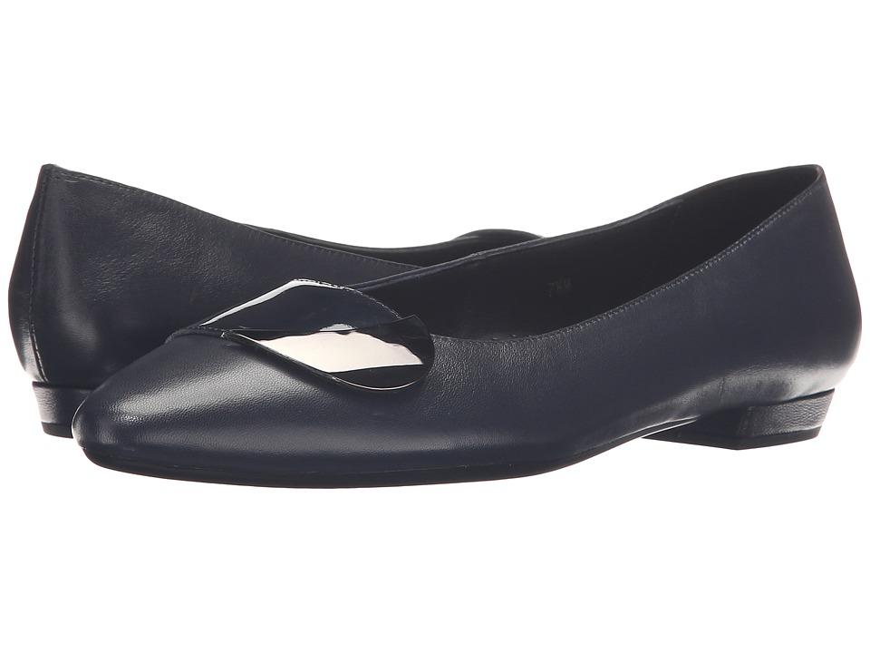 Vaneli - Gent (Navy Patent/Match Patent/Gunmetal Trim) Women's Flat Shoes