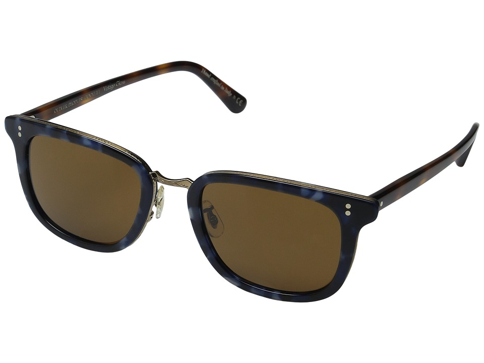Oliver Peoples - Kettner (Cobalt Tortoise/Dark Mahogany/Cosmik Tone Vintage Glass) Fashion Sunglasses