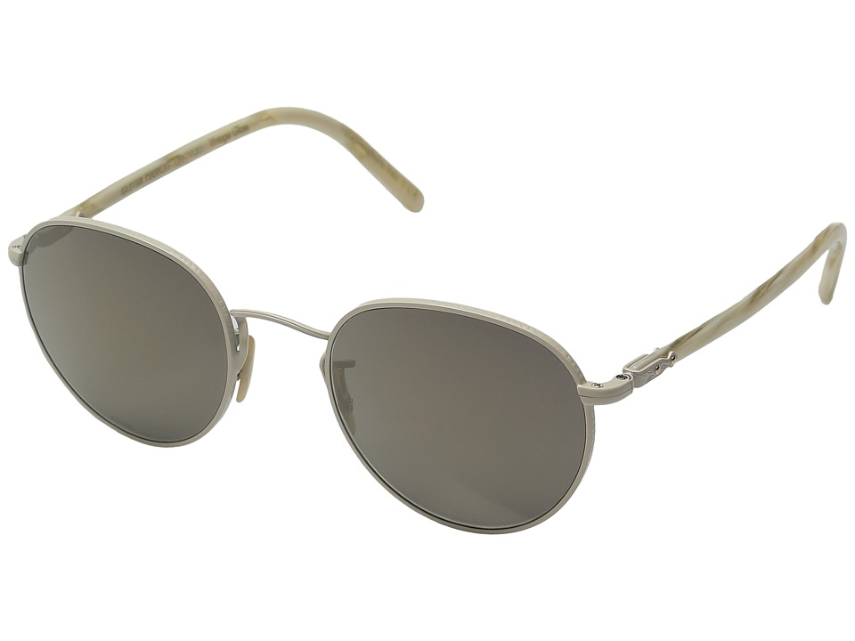 Oliver Peoples - Hassett (Bone/Beige Silk/Grey Goldtone Vintage Glass) Fashion Sunglasses