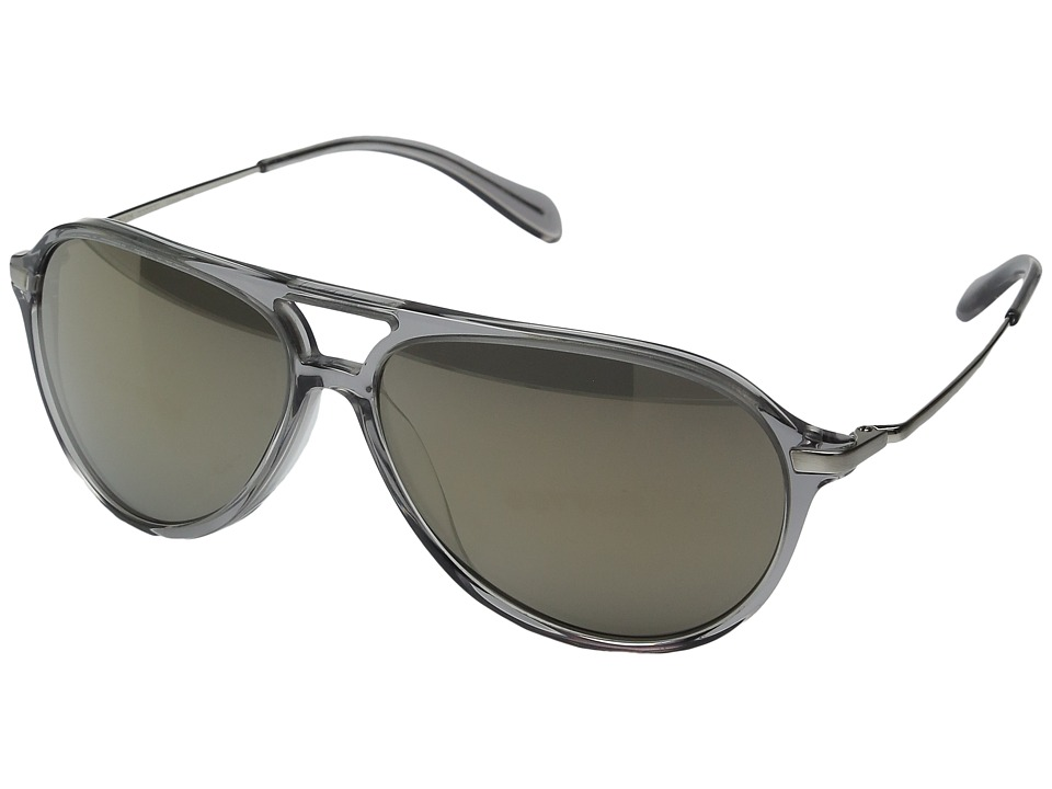 Oliver Peoples - Braeden (Workman Grey/Brushed Silver/Grey Goldtone Vintage Glass) Fashion Sunglasses