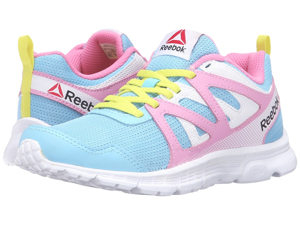 Reebok Kids - Run Supreme 2.0 (Little Kid/Big Kid) (Blue Splash/Icono Pink/White) Girls Shoes