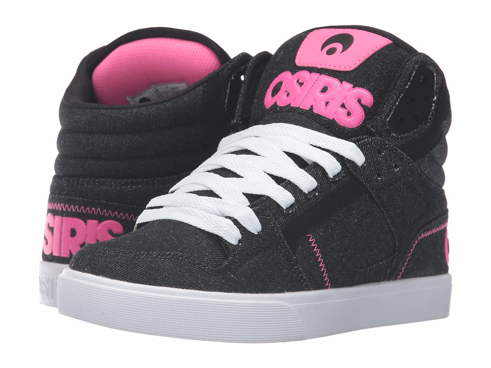Osiris - Clone (Black/Denim/Pink) Women's Skate Shoes