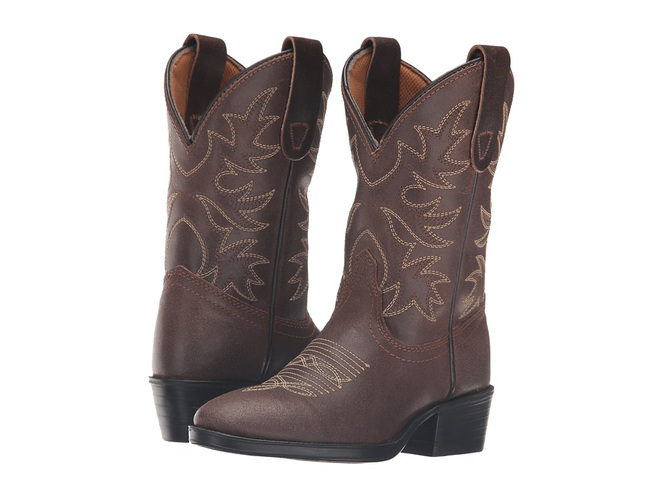 Dan Post Kids Carter (Toddler/Little Kid) (Dark Brown) Cowboy Boots
