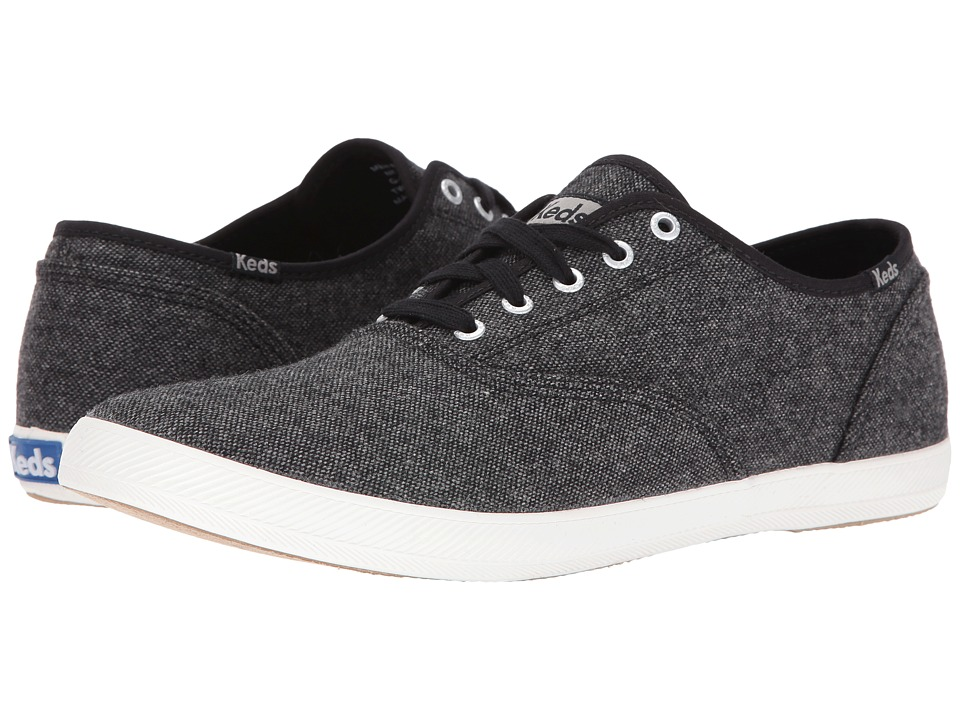 Keds - Champion Tweed (Black) Men's Lace up casual Shoes