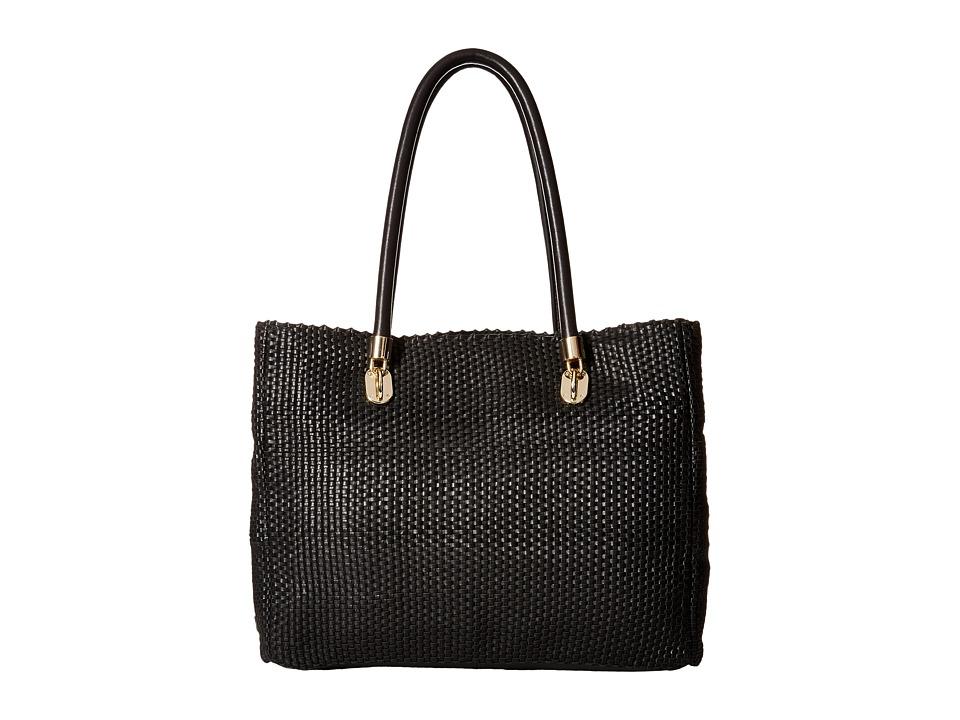Cole Haan - Benson Woven Tote (Black) Tote Handbags