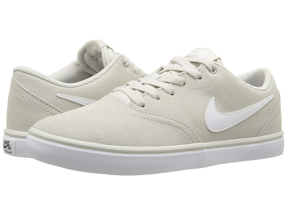 Nike SB - Check Solar Suede (Light Bone/White) Men's Skate Shoes
