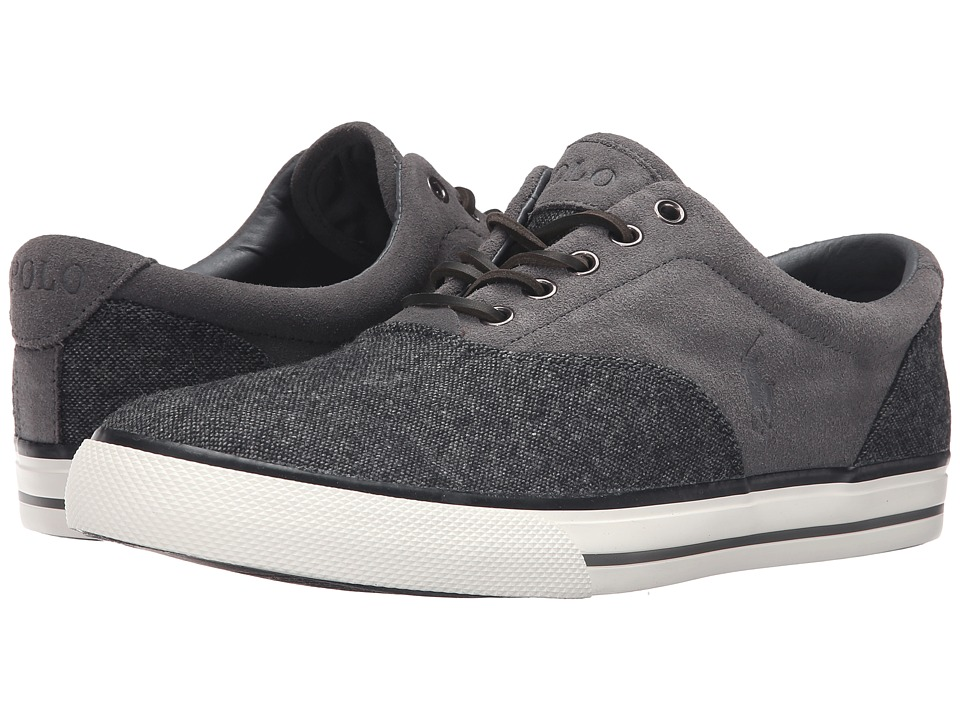 Polo Ralph Lauren - Vaughn Saddle (Charcoal/Charcoal Menswear Tweed/Sport Suede) Men's Lace up casual Shoes