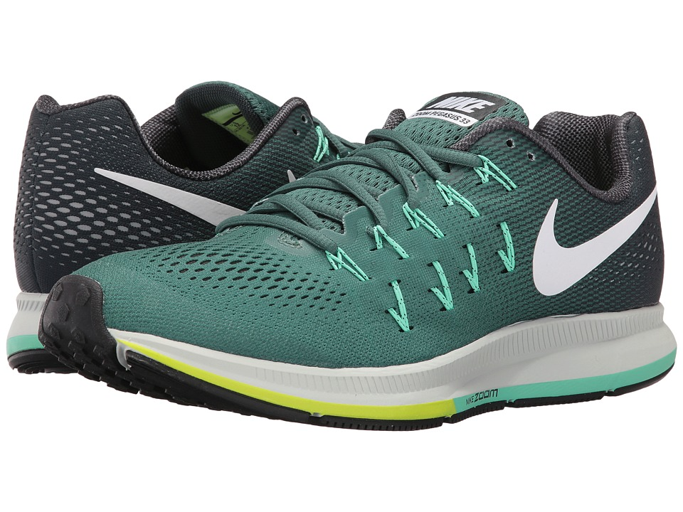 Nike - Air Zoom Pegasus 33 (Green Stone/Seaweed/Green Glow/White) Men's Running Shoes