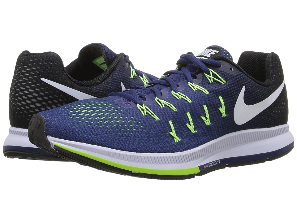 Nike - Air Zoom Pegasus 33 (Loyal Blue/Black/Ghost Green/White) Men's Running Shoes