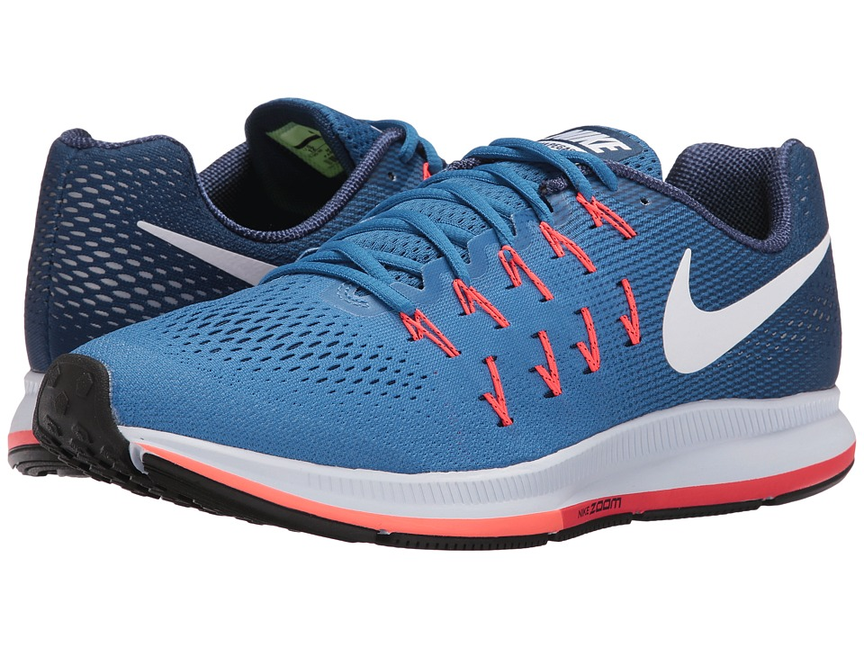 Nike - Air Zoom Pegasus 33 (Star Blue/Coastal Blue/Bright Mango/White) Men's Running Shoes