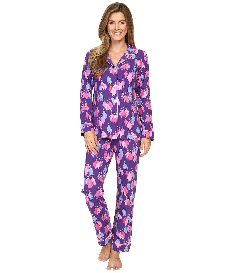 BedHead - Long Sleeve Classic Bottom Pajama Set (Purple Belle of the Ball) Women's Pajama Sets