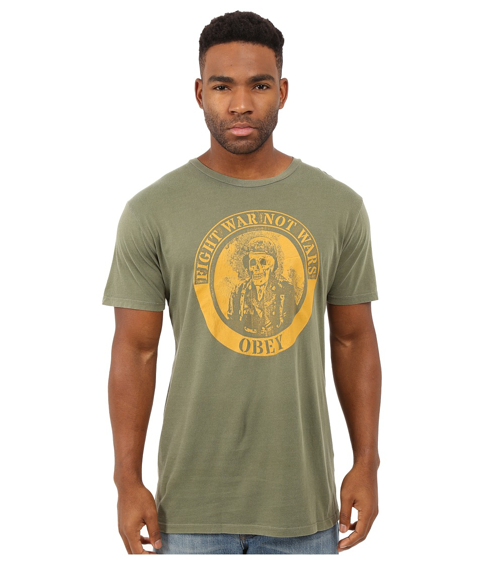 Obey - Fight War Lightweight Tee (Dark Olive) Men's T Shirt