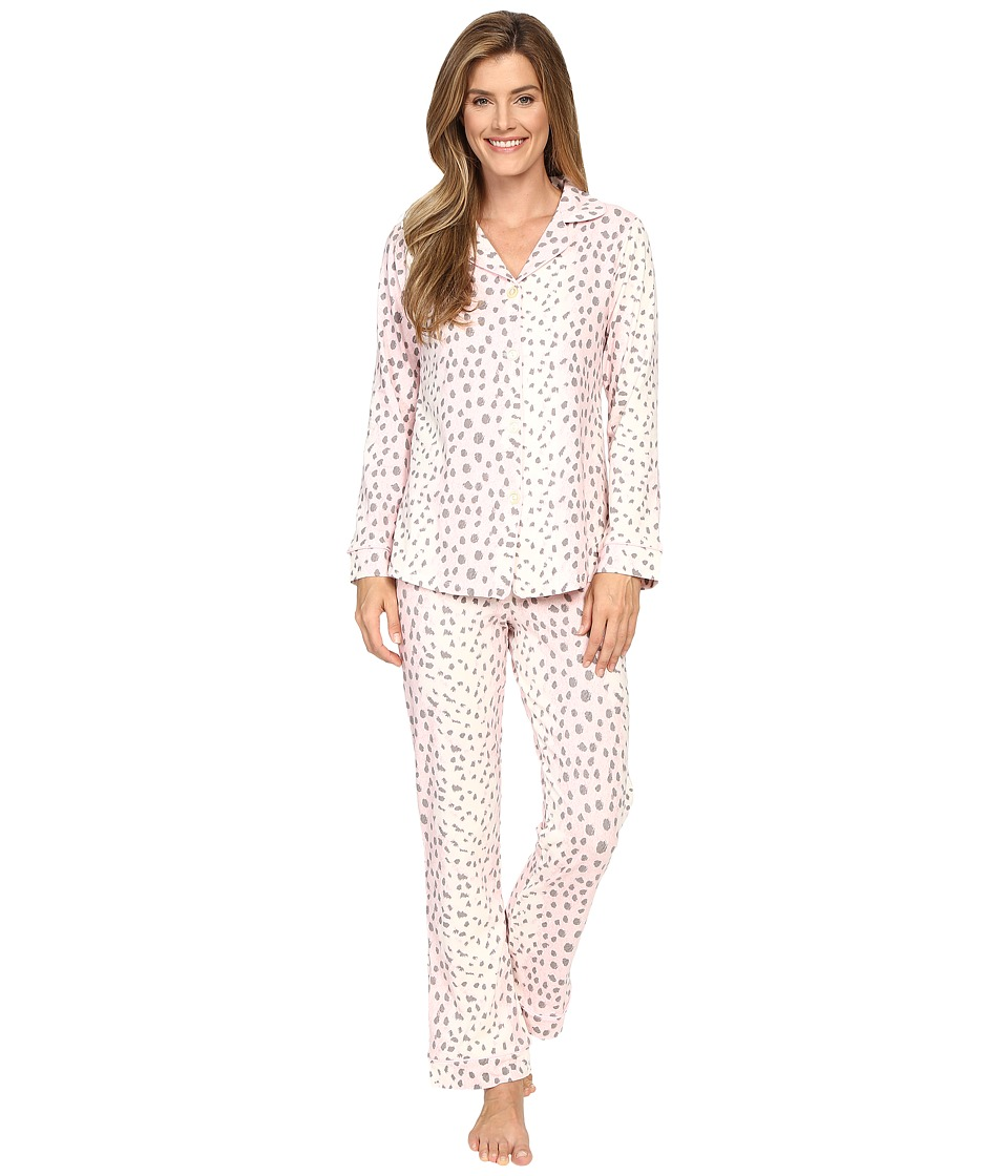 BedHead - Long Sleeve Classic Bottom Pajama Set (Pink Royal Animal) Women's Pajama Sets
