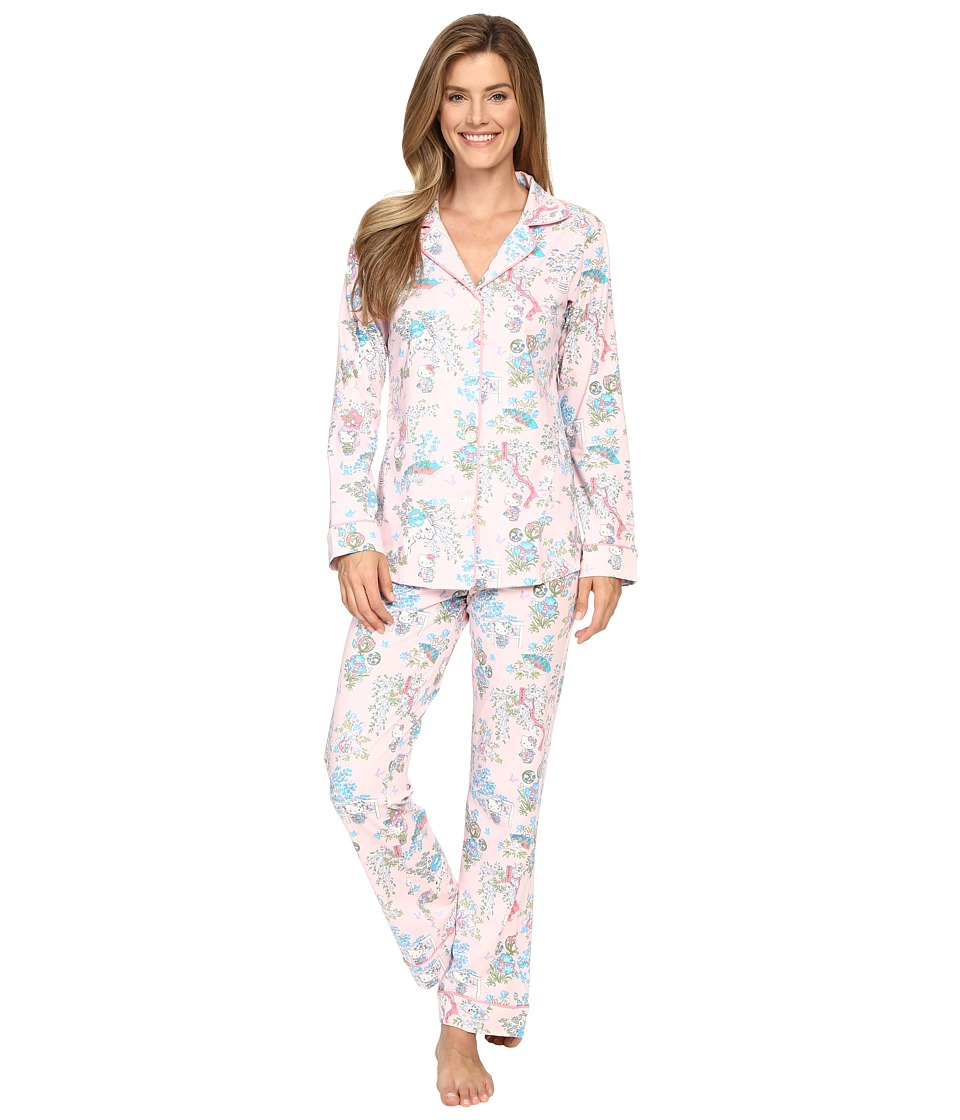 BedHead - Long Sleeve Classic Bottom Pajama Set (Hello Kitty Geisha) Women's Pajama Sets