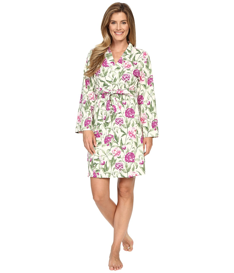 BedHead - Long Sleeve Short Robe (Garden Party) Women's Robe