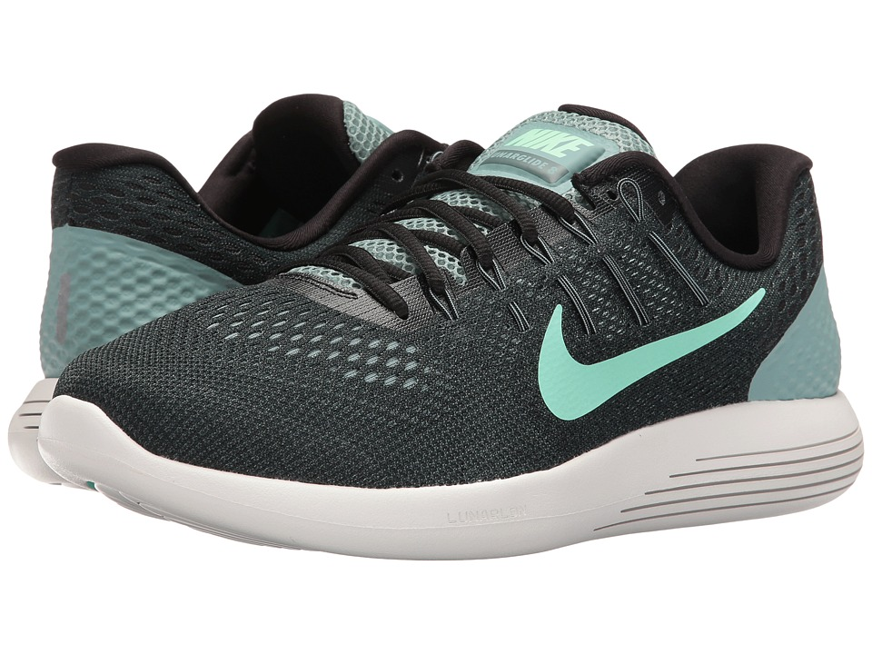 Nike - Lunarglide 8 (Cannon/Black/Hasta/Green Glow) Men's Running Shoes
